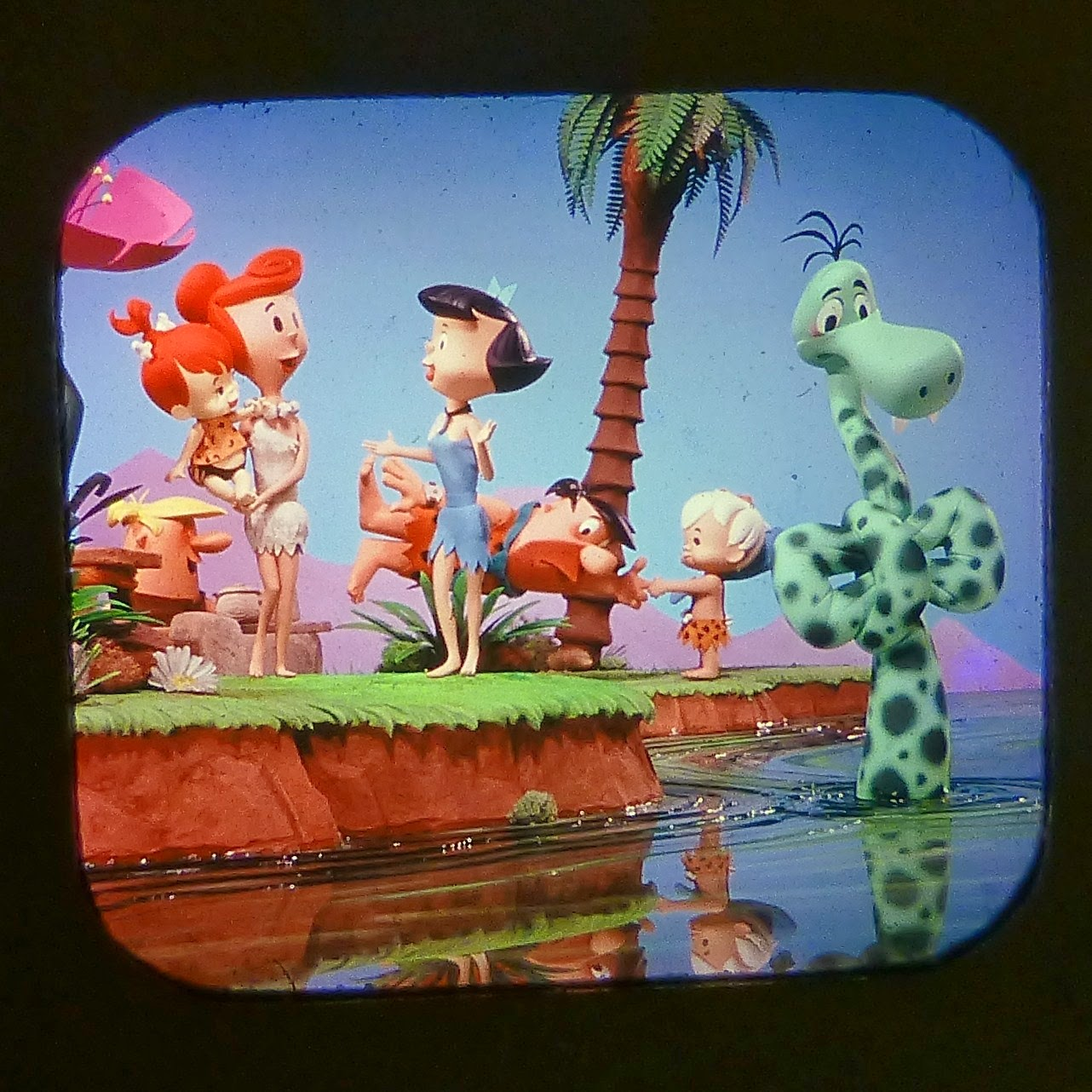 THE FLINTSTONES PEBBLES AND BAMM-BAMM VIEW MASTER SCANS