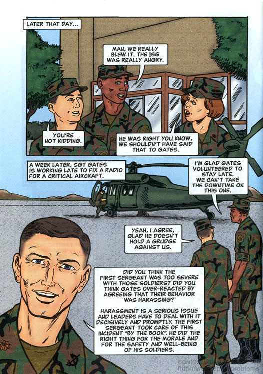U.S. Army's official Don't Ask Don't Tell homosexual policy comic book 2001