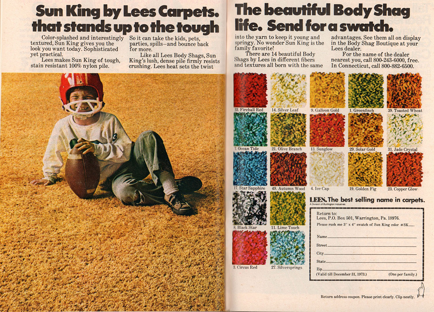 carpet advert vintage