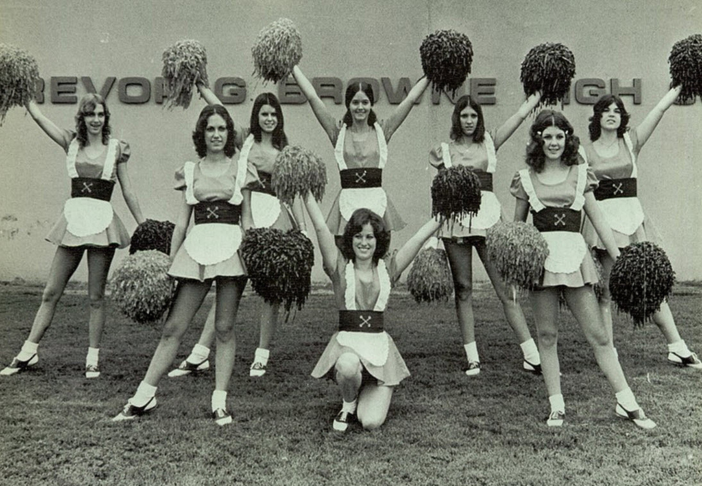cheerleader uniforms vintage