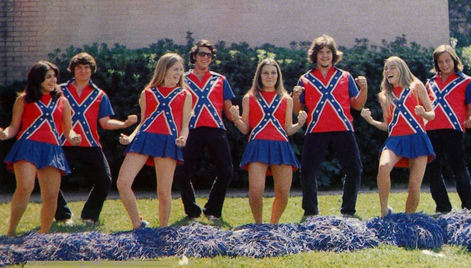 confederate cheerleaders