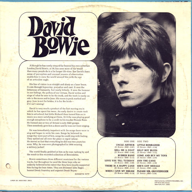 david bowie 1967 debut album first back