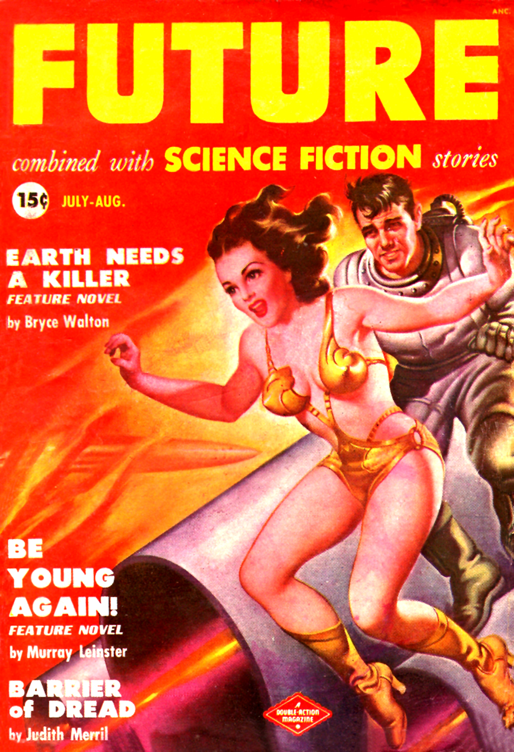future pulp cover vintage