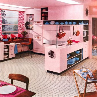 30 Vintage Kitchens from Atomic Age to Disco Era
