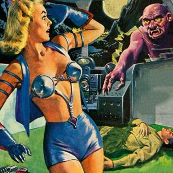 Metallic Bras from Space! Sci-Fi Pulp Ladies & Their Shiny Metal Brassieres
