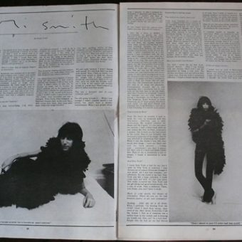 Patti Smith in Andy Warhol's Interview, October 1973
