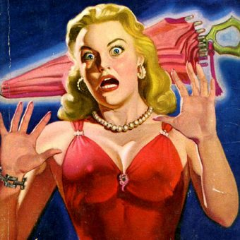 "The Ever-Present ""Lady in Red"" in Vintage Pulp Fiction"