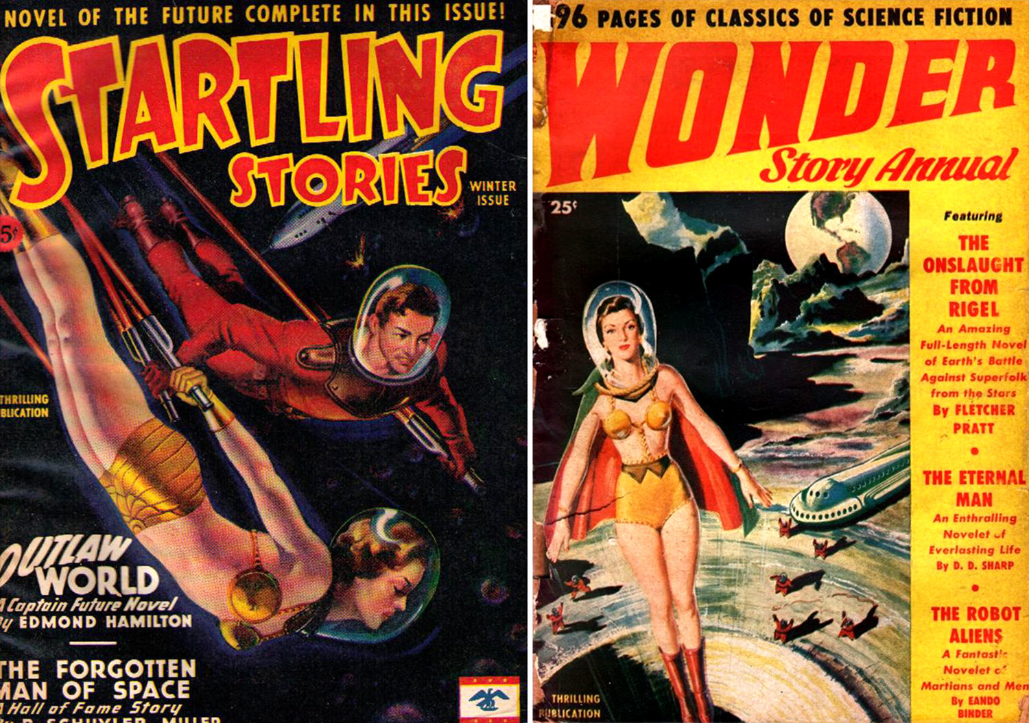 science fiction pulp covers