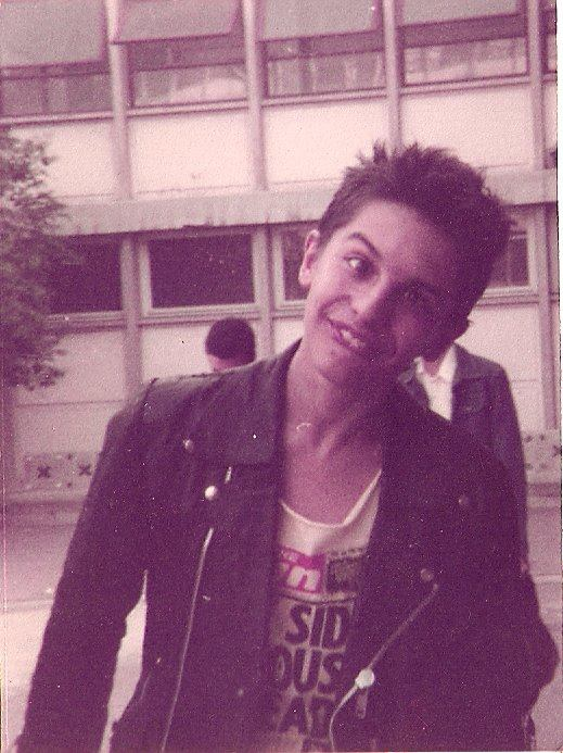In the courtyard of Marie Curie high school. Marseille in 1982..