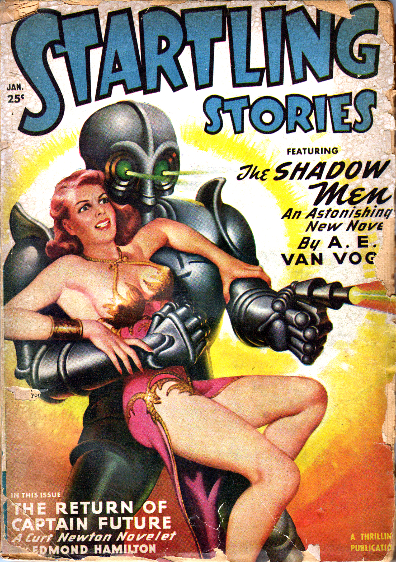 startling stories cover alien