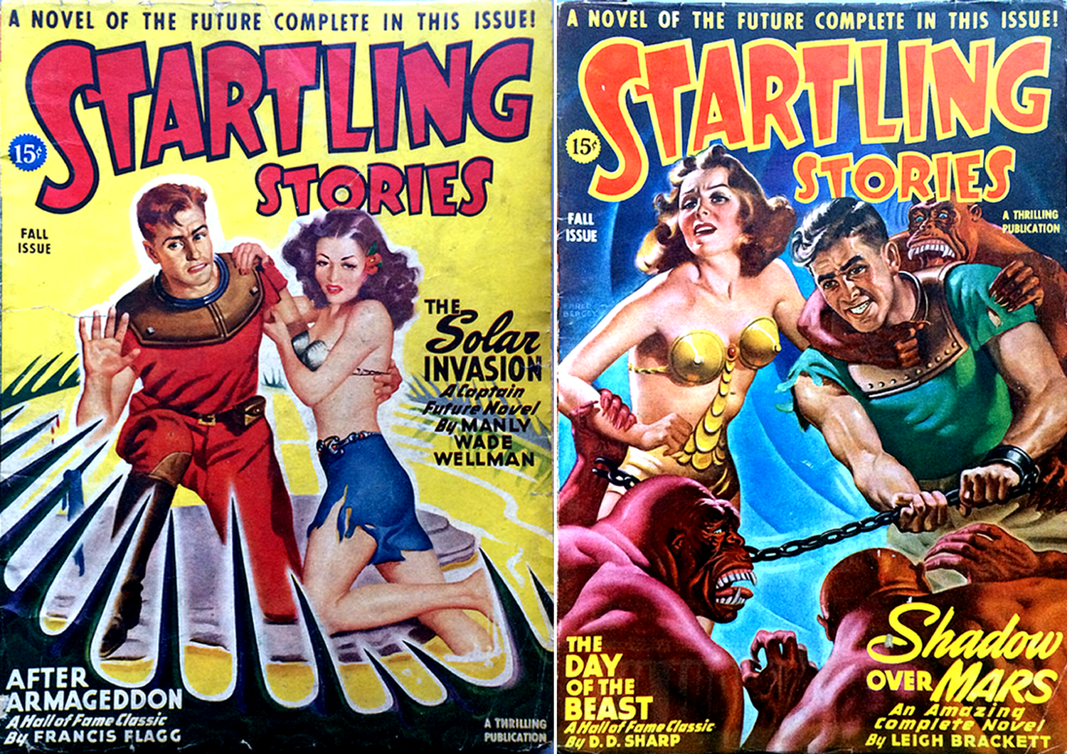 startling stories pulp fiction covers
