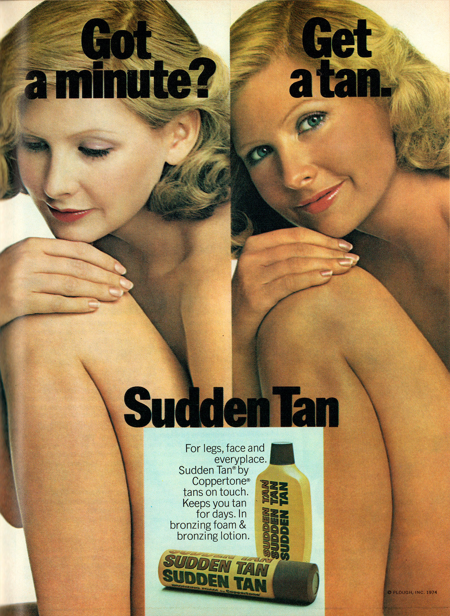sudden tan advert