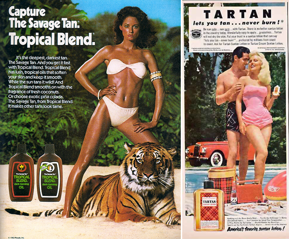 tan advertising vintage