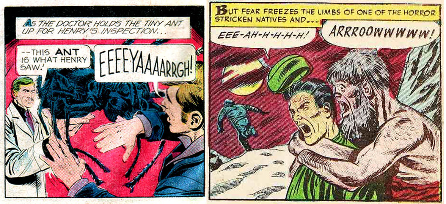 vintage comic exclamations