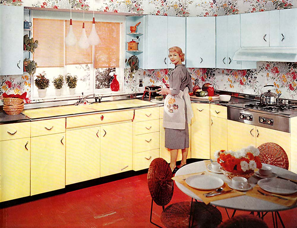 30 Vintage Kitchens from Atomic Age to Disco Era - Flashbak