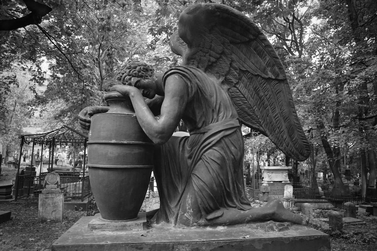 Donskoy Monastery cemetery Moscow 1980s