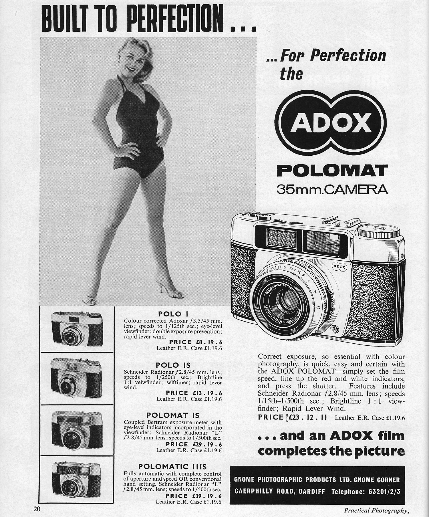 1964 camera advertisement