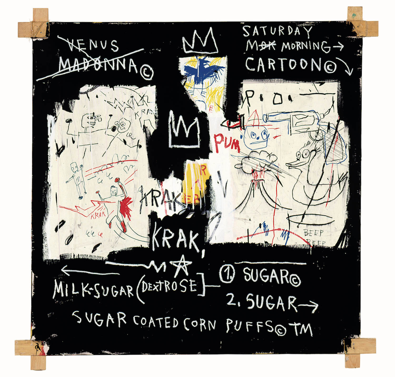 Jean-Michel Basquiat, A Panel of Experts, 1982, Courtesy The Montreal Museum of Fine Arts