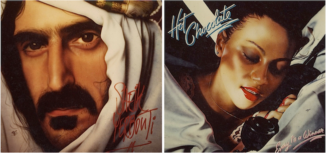 Alan Bonds airbrushed 6-by-6-foot album covers such as these for Tower's San Francisco store from 1977 to 1981.
