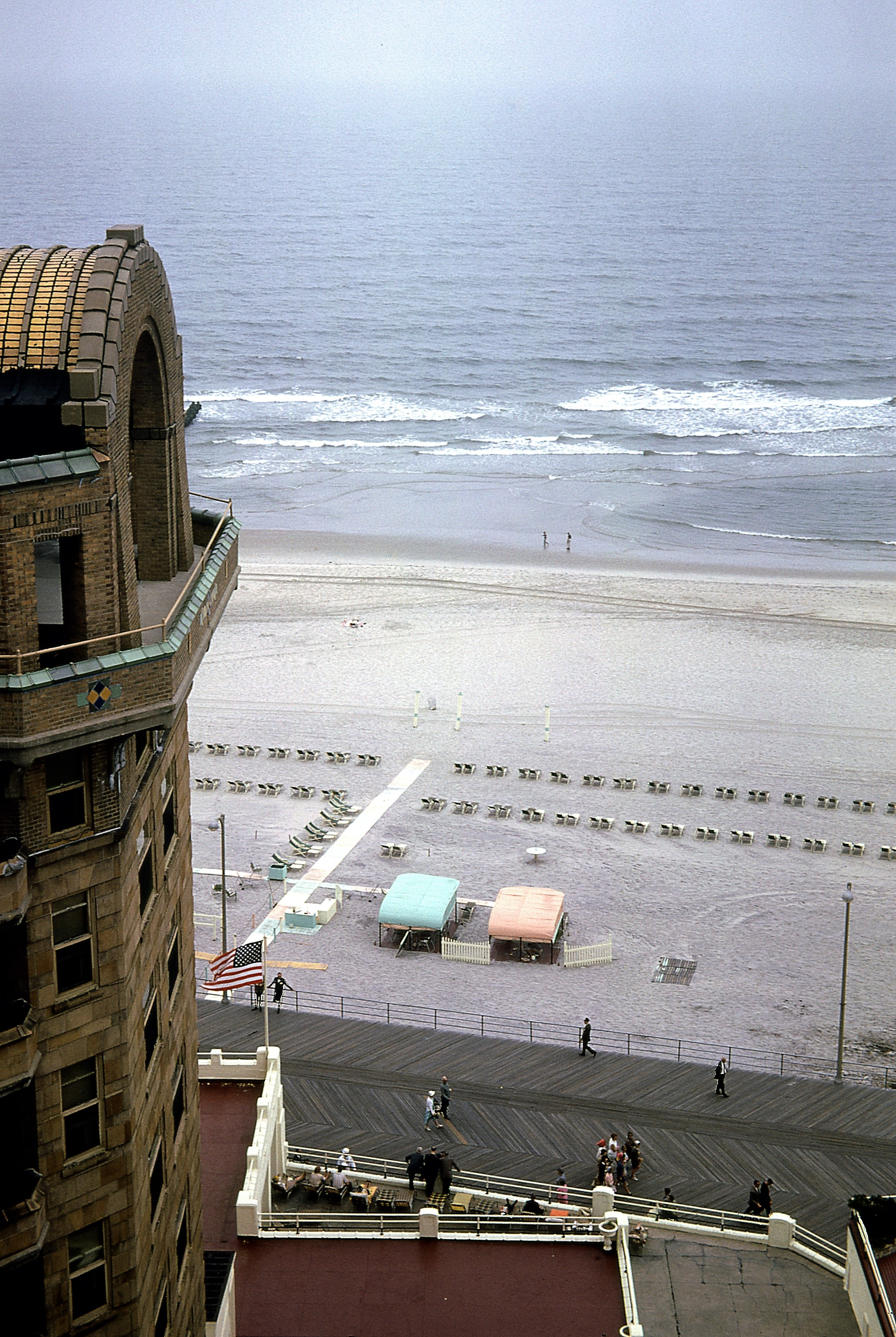 Atlantic City, New Jersey 1962 aerial shot of the beach
