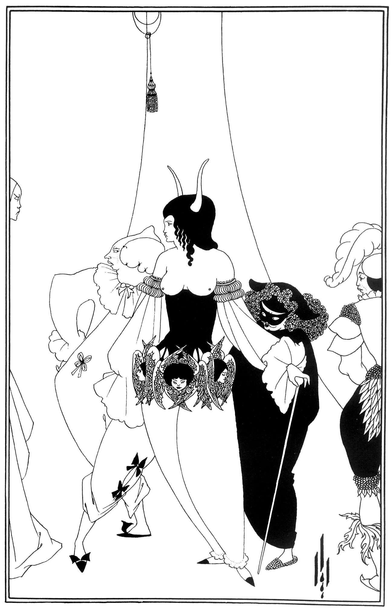 Aubrey Beardsley, The Mask of The Red Death