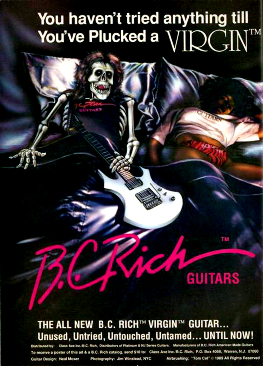 BC Rich guitar advert