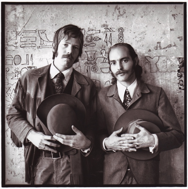Dan Hicks (left) and Mike Ferguson in San Francisco, circa 1966. Photograph by Herb Greene.
