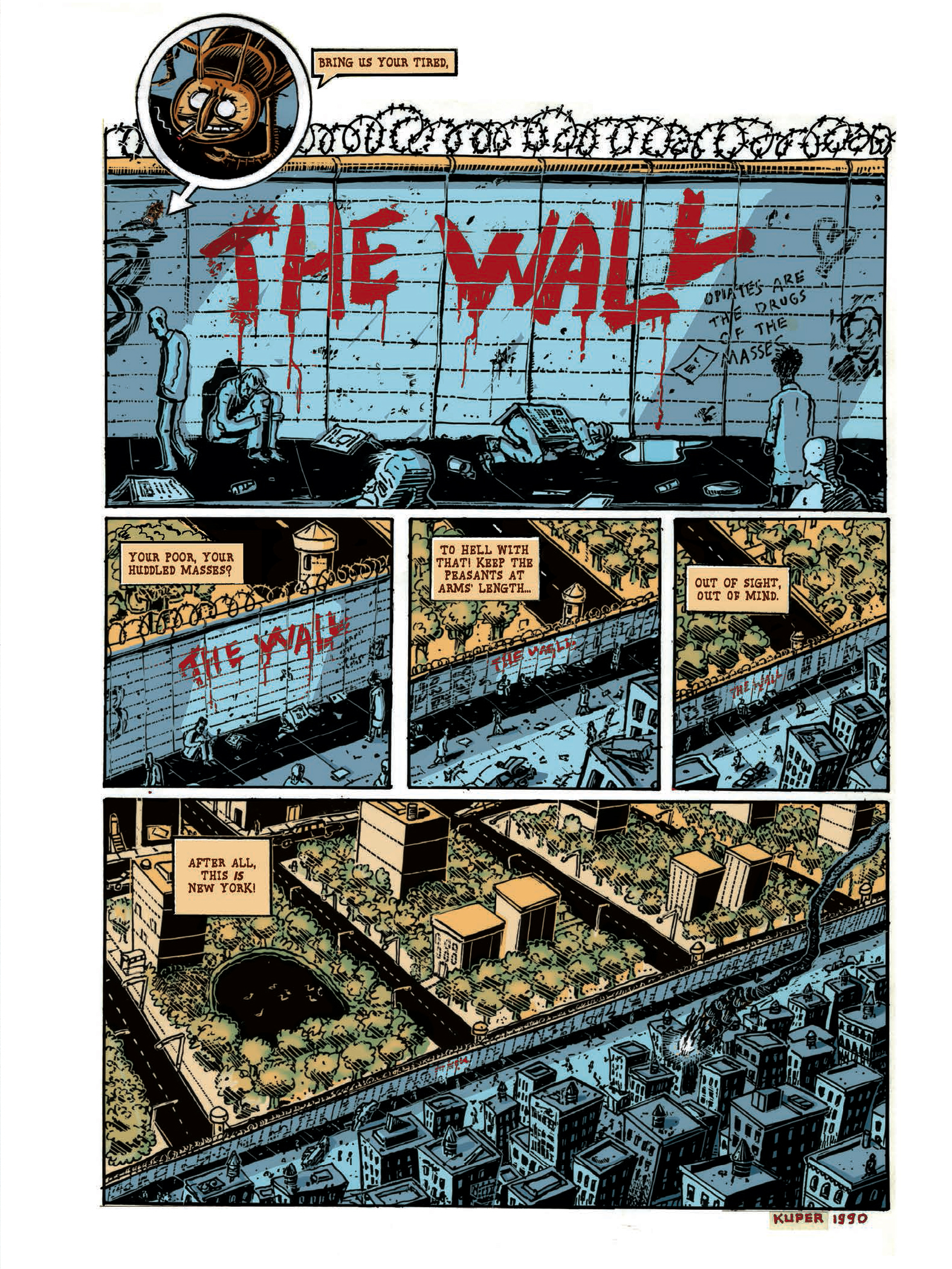 Donald Trump WAll 1990 Kuper Peter-1