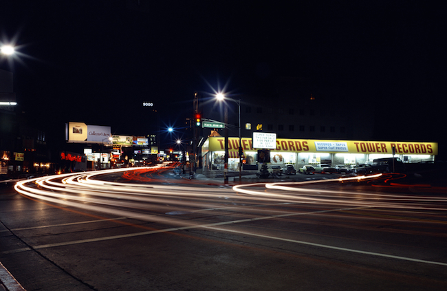 For more than 30 years, Tower Records was one of the most prominent landmarks on the Sunset Strip in Los Angeles. (Image courtesy Gravitas Ventures)