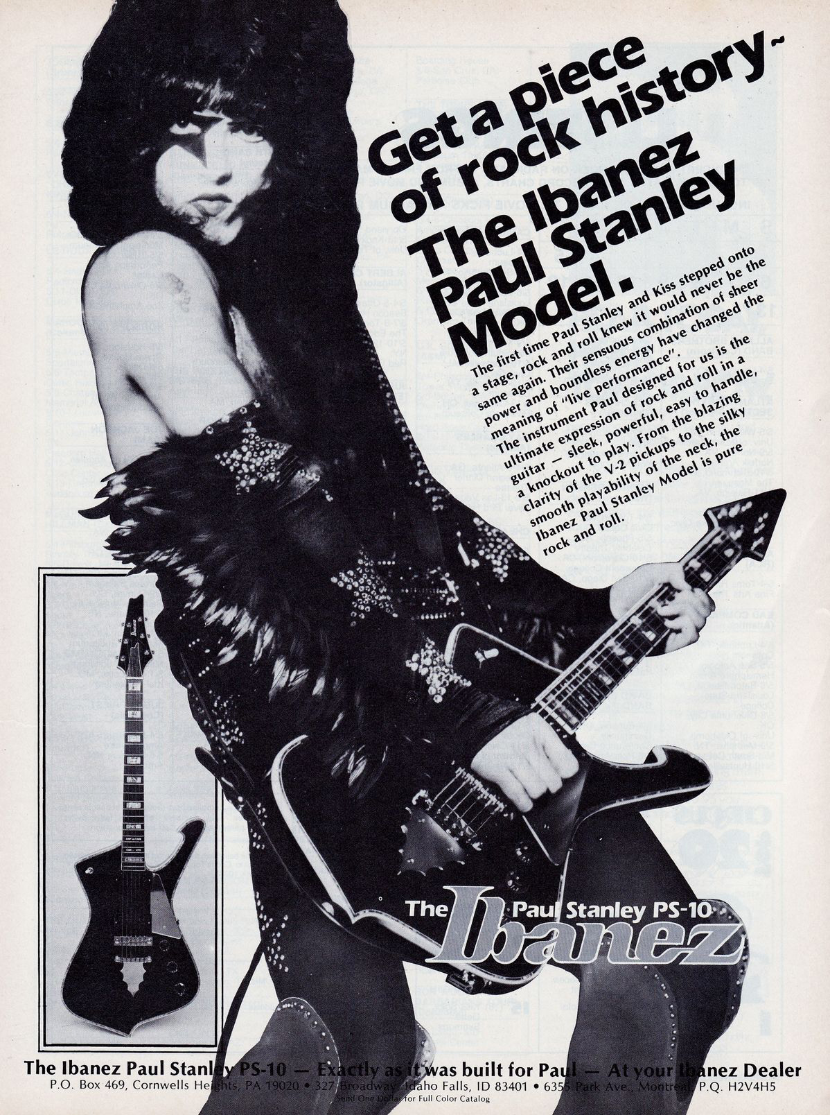 paul stanley kiss guitar