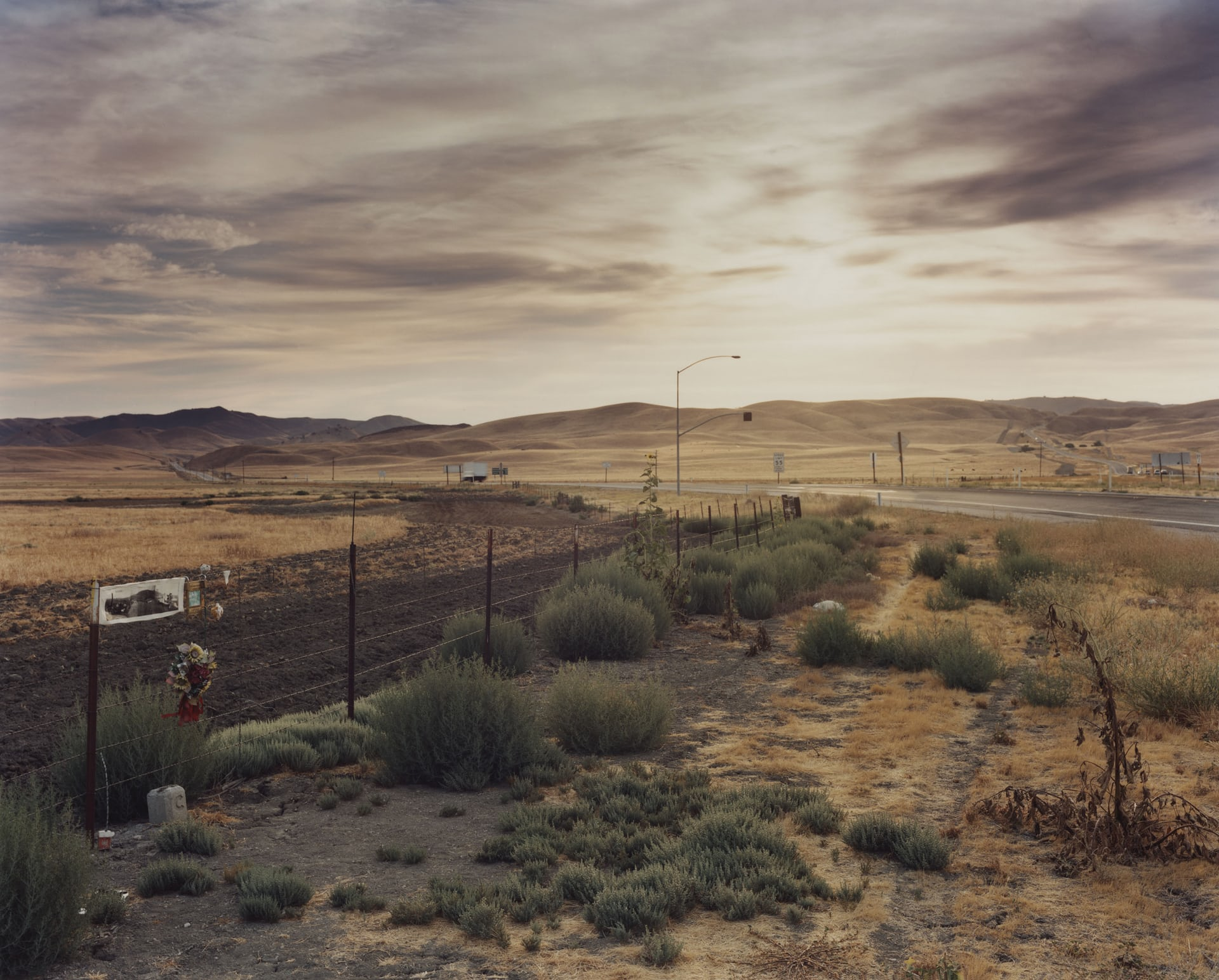 James Dean, Route 46 in California, 30 September 1955 When James Dean, at the wheel of his Porsche, notices a car in the distance, he reassures his passenger: 'He has seen us, he will stop.' But the driver of the Ford Tudor hasn't seen anything, because his vehicle is very high. Dean cannot avoid the collision. His passenger survives, but Dean's feet are stuck under the pedals and his neck is broken upon impact