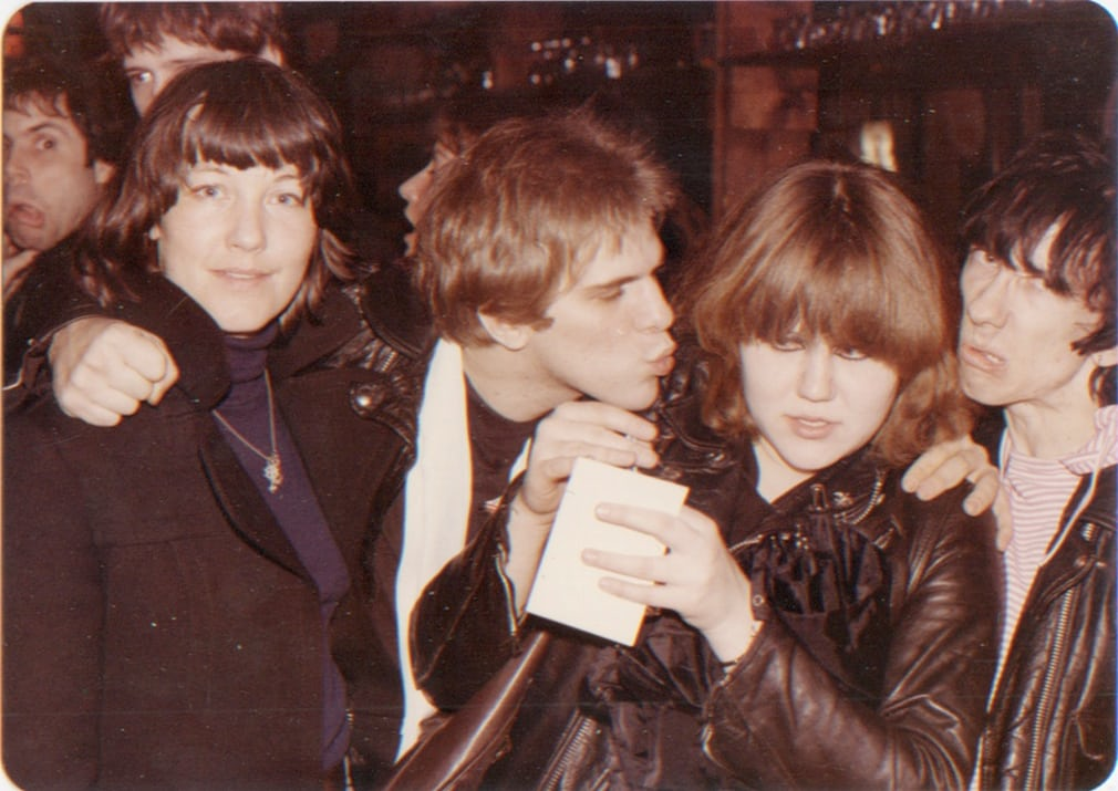 Johnny Blitz and Stiv Bators of Dead Boys and Miriam Linna of the Cramps