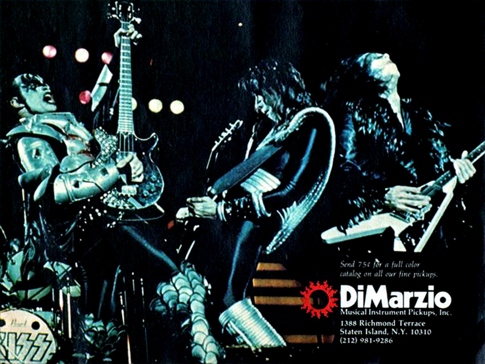 Kiss dimarzio advert