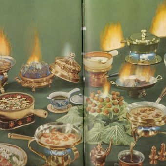 Flaming Lettuce And Olive Sandwiches: LIFE Picture Cook Book 1958