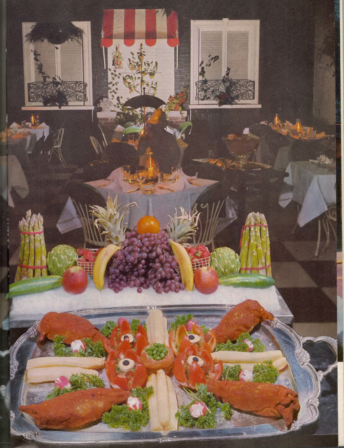 Imperial House Restaurant, Chicago It's Chicken Kiev with asparagus! 1958 Life Picture Cookbook