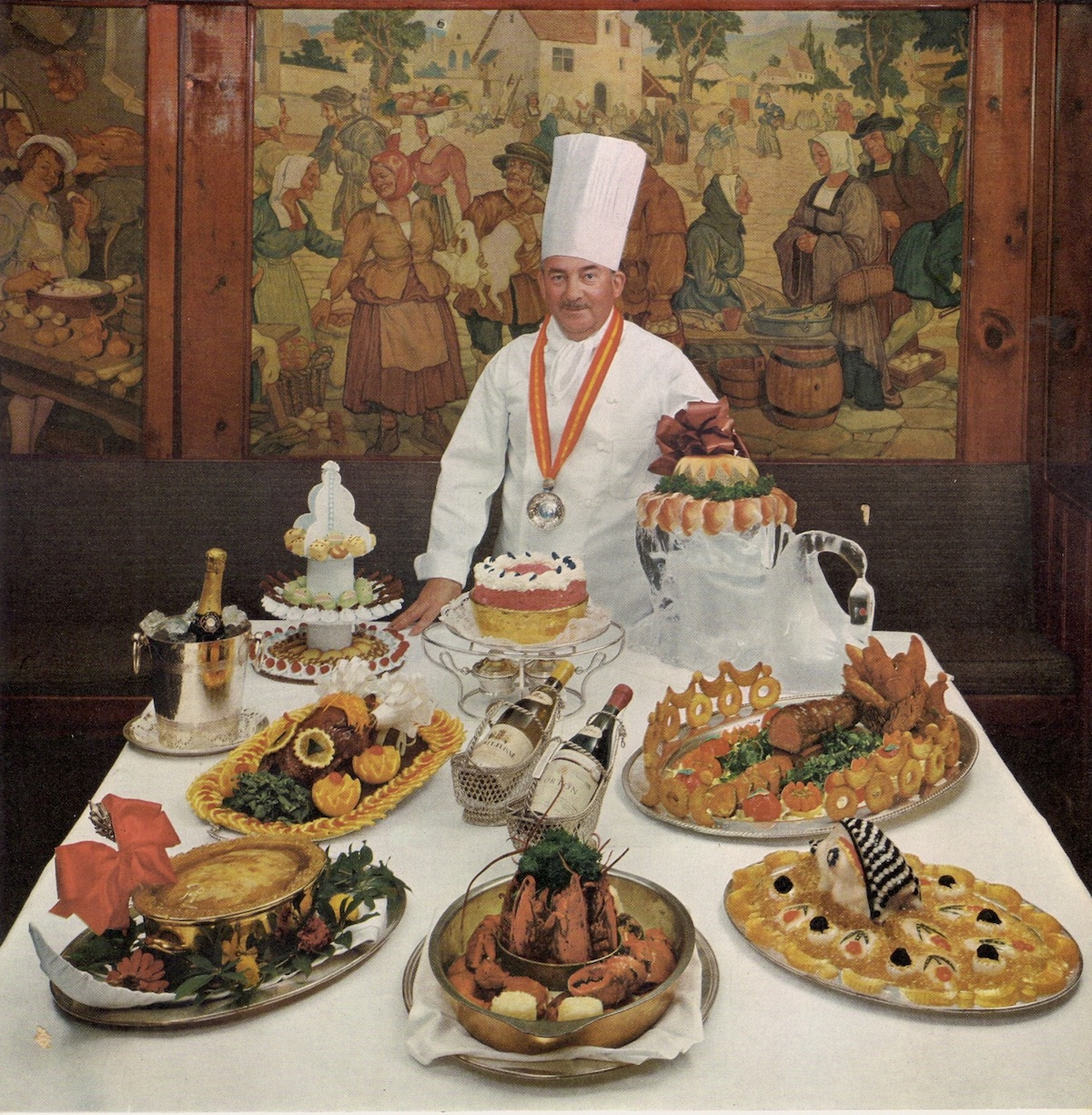 La Cremaillere-a-la-Campagne Restaurant, Banksville New York Chef Antoine Gilly and his hilarously overblown food.... Life Picture Cookbook