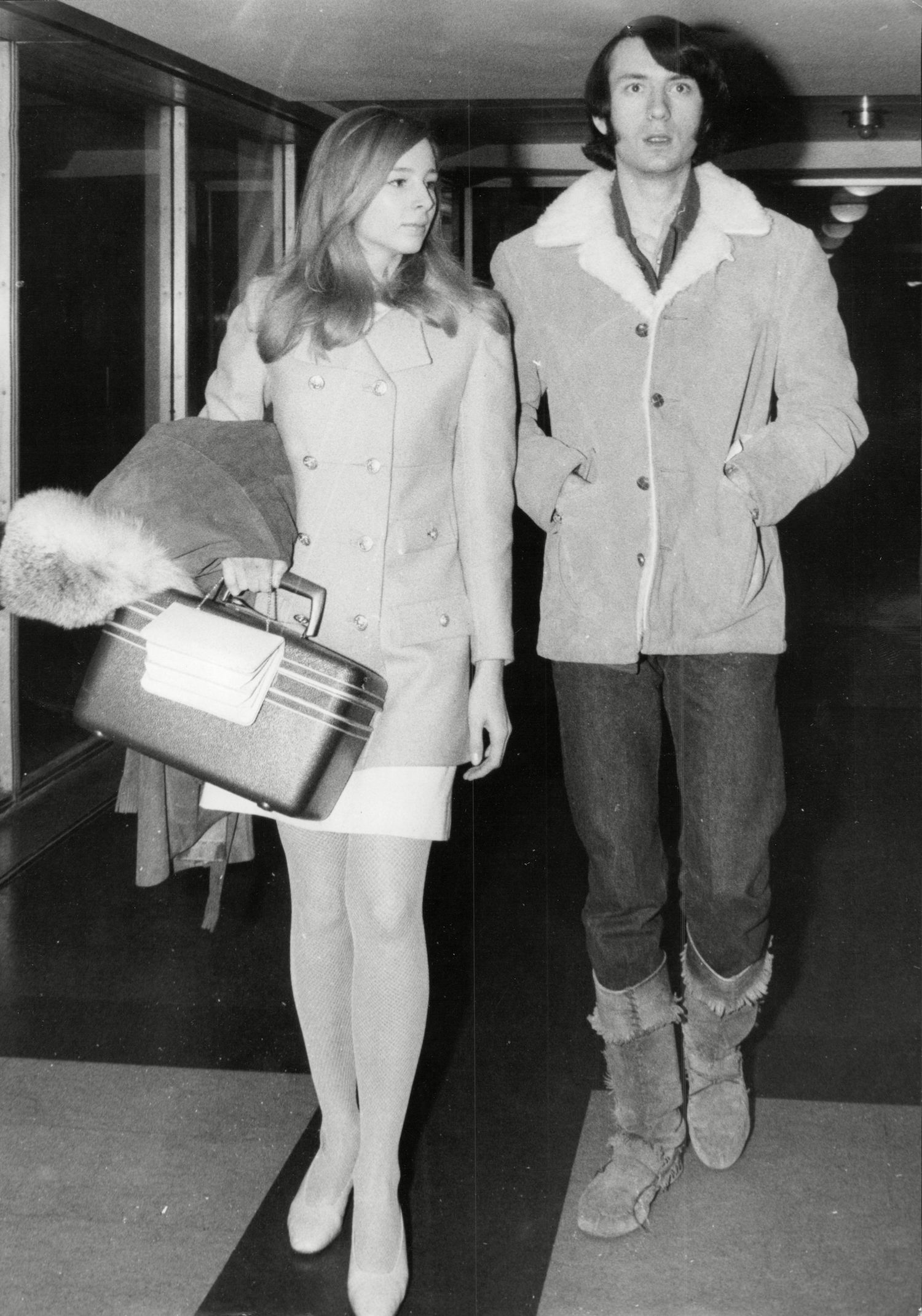 Pop Group The Monkees Michael Nesmith With Wife Phyllis Nesmith At Heathrow Airport The Monkees Were An American Rock Band That Released Music Under Its Original Incarnation Between 1966 And 1970 With Subsequent Reunion Albums And Tours In The Decades That Followed. Assembled In Los Angeles In 1965 By Robert 'bob' Rafelson And Bert Schneider For The American Television Series The Monkees Which Lasted 2 Seasons From 1966a1968 The Musical Acting Quartet Was Composed Of Americans Micky Dolenz Michael Nesmith And Peter Tork And Englishman Davy Jones. The Band's Music Was Initially Supervised By Producer Don Kirshner. Described By Band Member Micky Dolenz As Initially Being 'a Tv Show About An Imaginary Band [.] That Wanted To Be The Beatles [but] That Was Never Successful' The Actor-musicians Soon Became A Real Band. As Dolenz Would Later Describe It 'the Monkees Really Becoming A Band Was Like The Equivalent Of Leonard Nimoy Really Becoming A Vulcan. Pop Group The Monkees Michael Nesmith With Wife Phyllis Nesmith At Heathrow Airport The Monkees Were An American Rock Band That Released Music Under Its Original Incarnation Between 1966 And 1970 With Subsequent Reunion Albums And Tours In The Decade