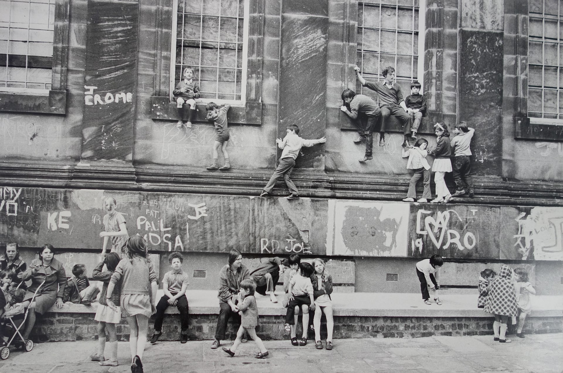Outside the Black-E Arts Centre, Liverpool, 1973