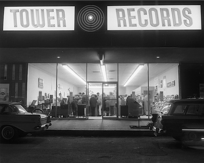 Russ Solomon's first official Tower Records opened in 1961 on Watt Avenue in Sacramento. (Image courtesy Gravitas Ventures)