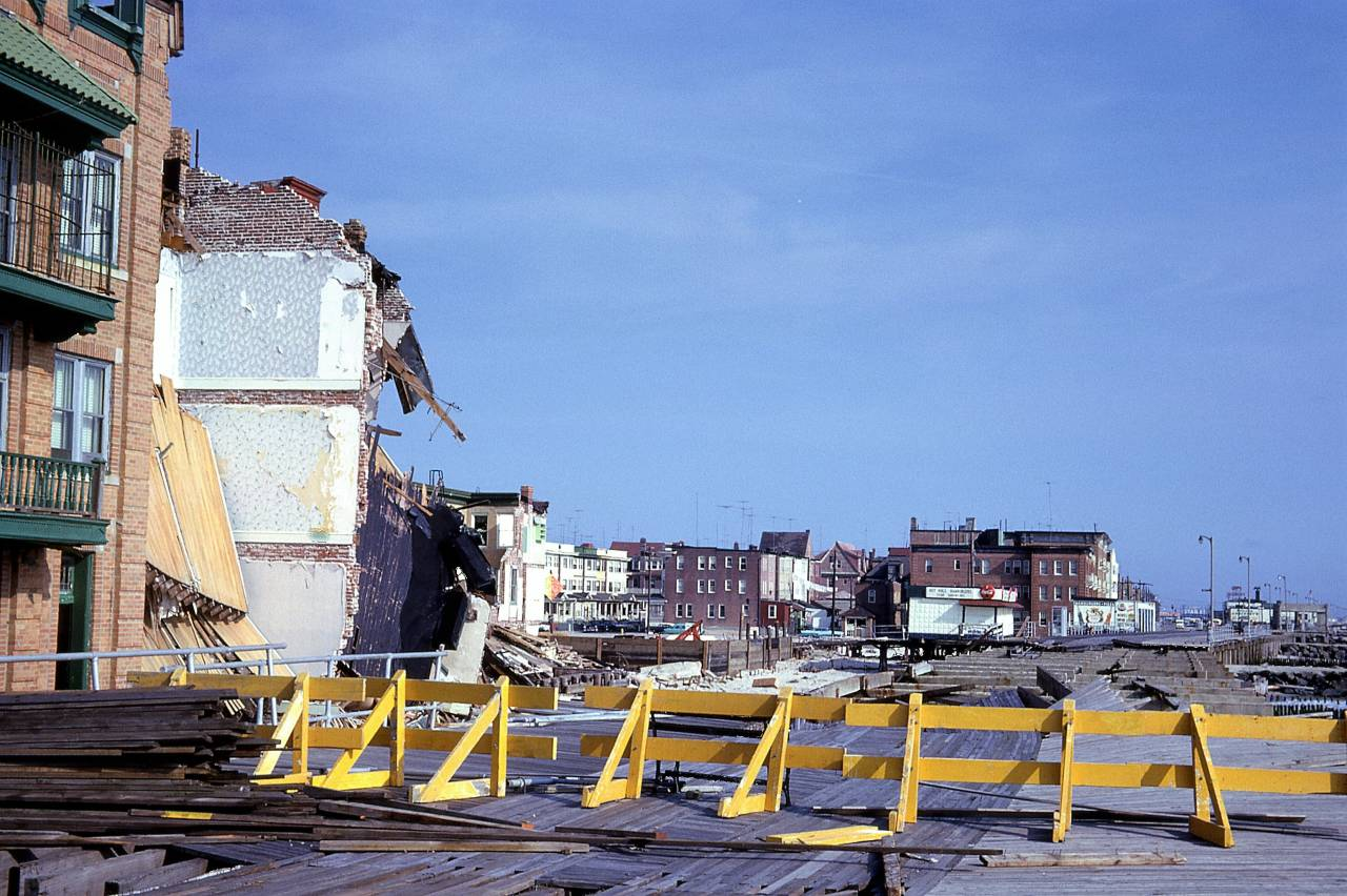 Storm damage at Atlantic City, New Jersey 1962