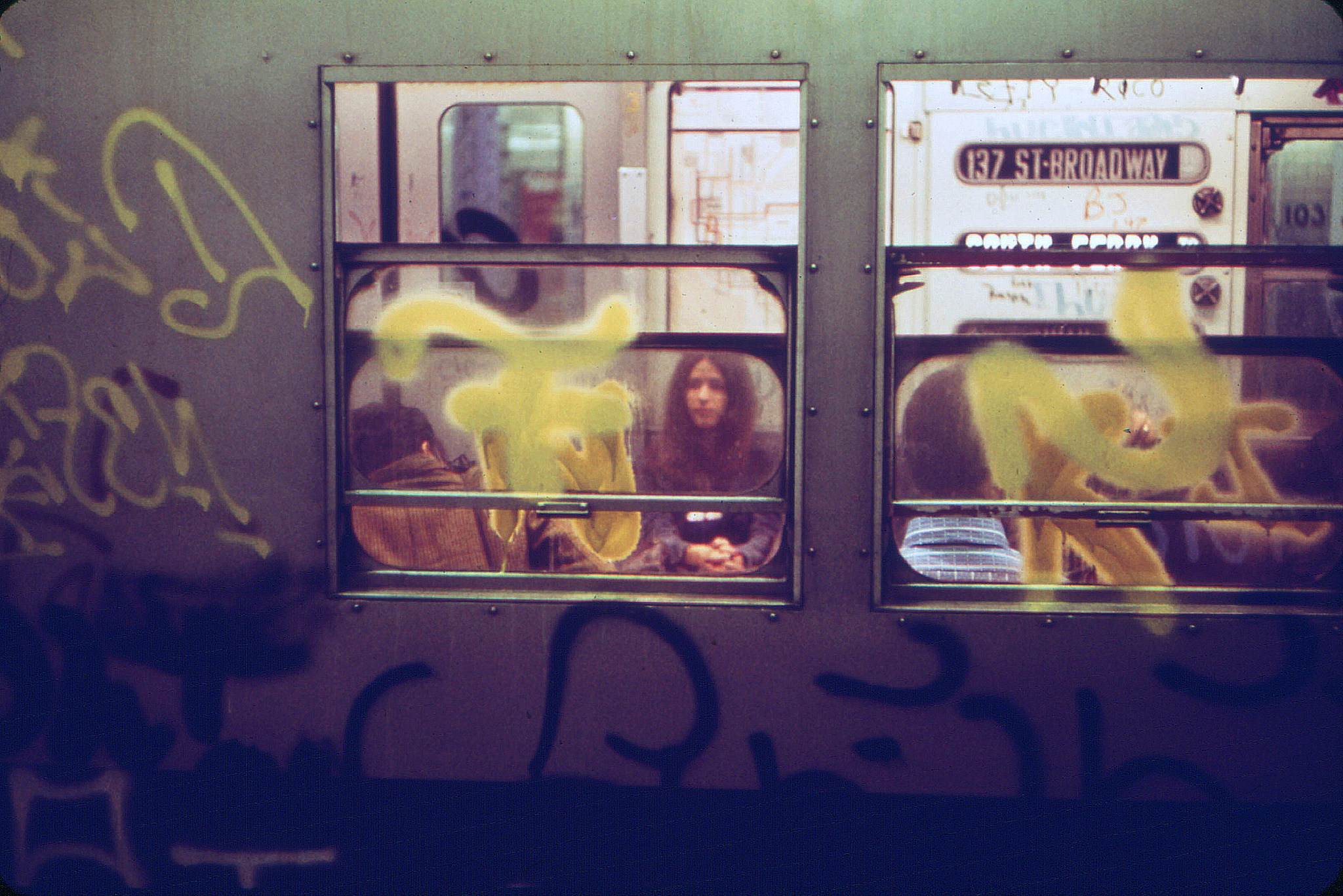 Subway Train, New York. April 1976
