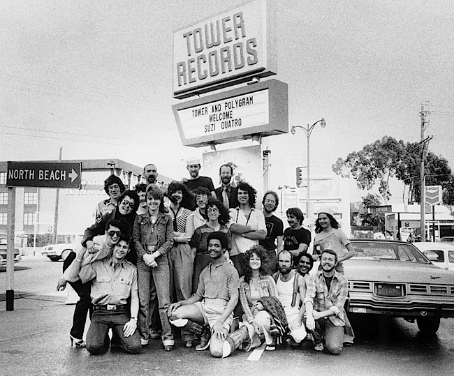The Tower Records crew in San Francisco, 1975. (Image courtesy Gravitas Ventures)