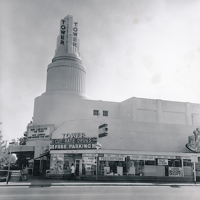 The first Tower Records was operated out of a drugstore in Sacramento, California. (Image courtesy Gravitas Ventures)