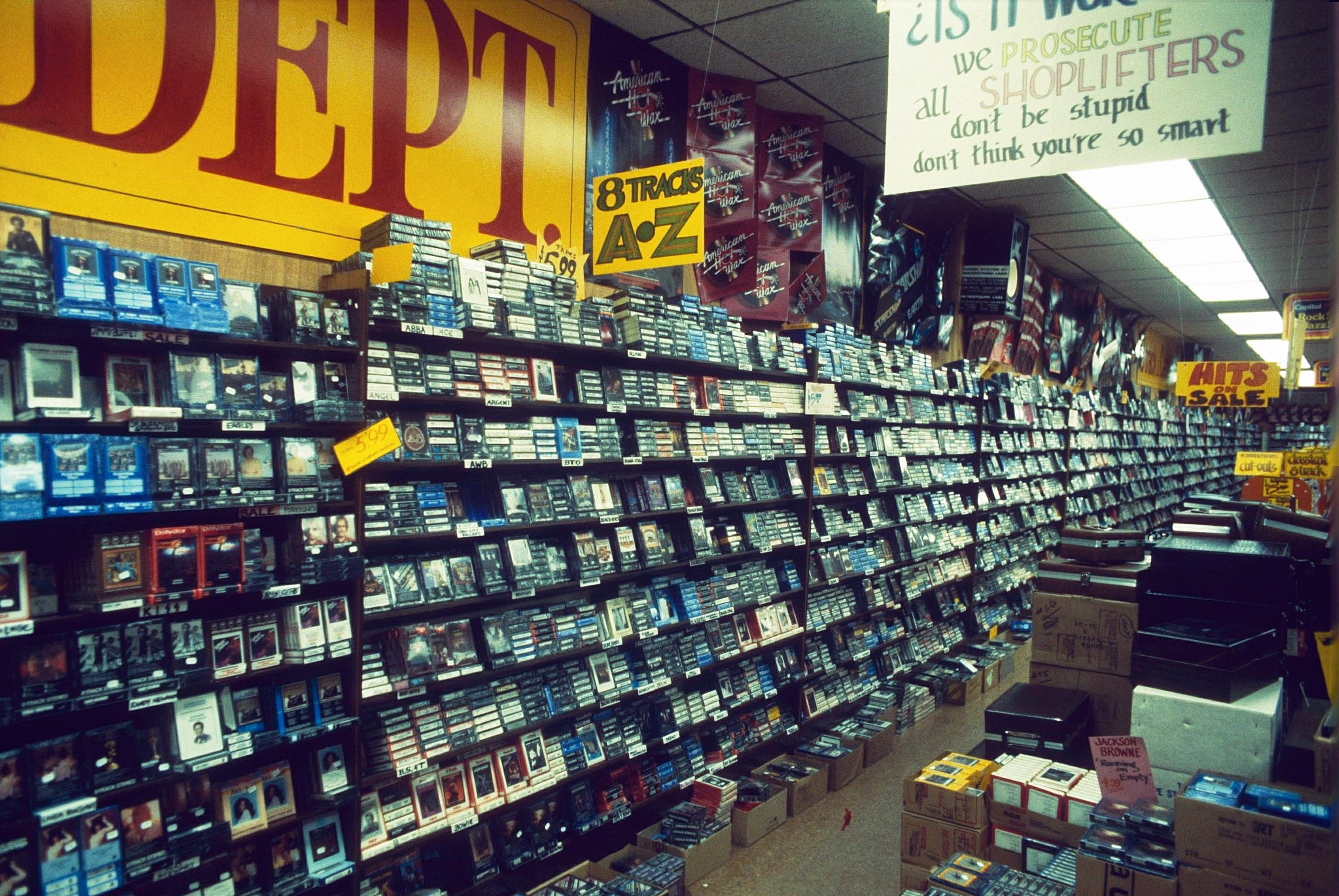 EIGHT TRACK CARTRIDGE DEPARTMENT IN TOWER RECORDS, AMERICA - 1978
