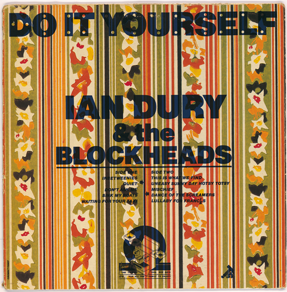 Wallpaper stock cover, one of 27 variants, design by Barney Bubbles, Ian Dury & The Blockheads, Stiff Records, 1979