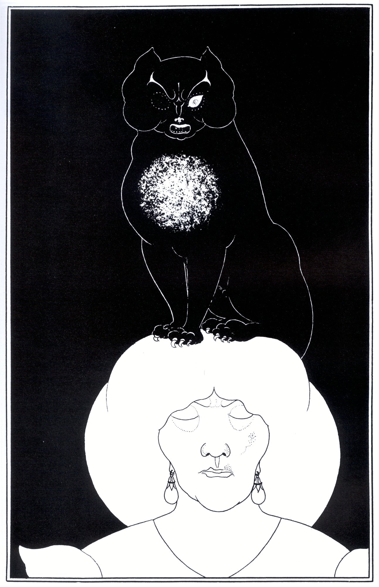 aubrey_beardsley_-_edgar_poe_The Black Cat