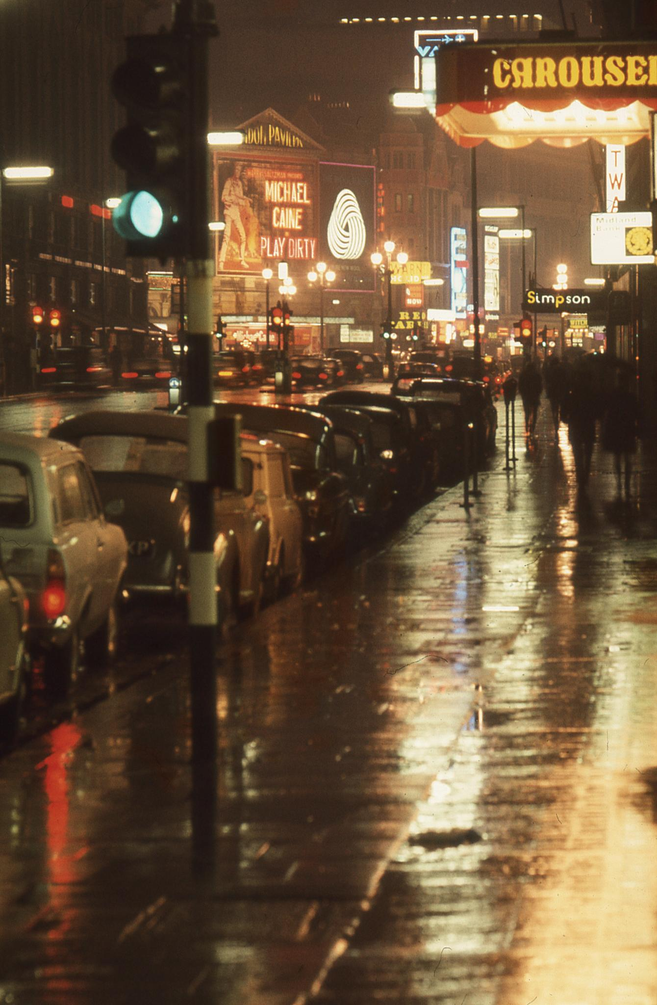 Piccadilly looking towards Piccadilly Circus, 1969
