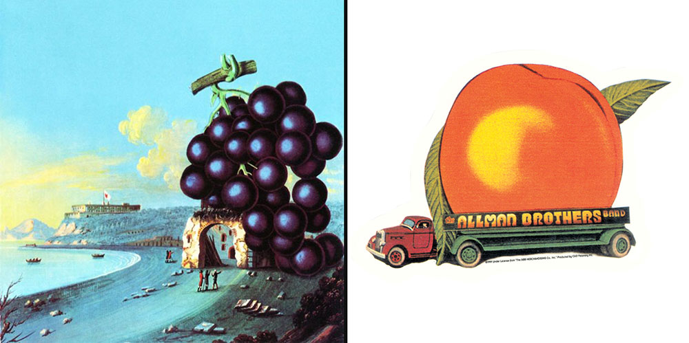 Fruit Jamz Album Covers Featuring Fruit 1950s 1980s