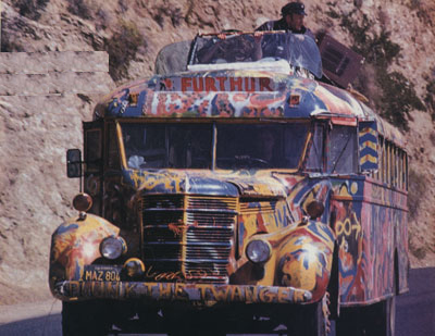 The Furthur bus, circa 1965. Via NoFurthur.com.