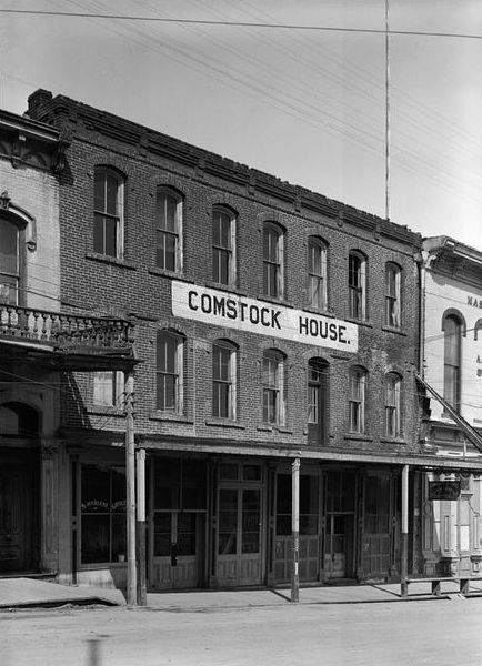 In 1965, the Red Dog Saloon occupied the first floor of the Comstock House, which was built in 1863. Today, the Red Dog continues to draw music lovers to Virginia City, Nevada. Archival photo via the Red Dog.
